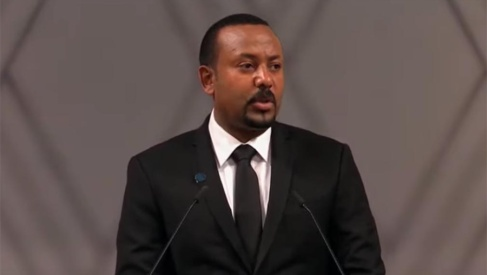Nobel Laureate Abiy Ahmed while giving Nobel Lecture, Tuesday 10th December 2019, Oslo, Norway